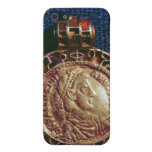 Gold pendant in the form of a coin iPhone 5 covers