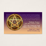 Gold Pentacle Business Cards