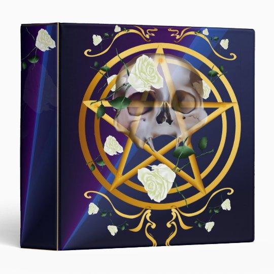 Gold Pentagram-Skull-White Roses2 binder_15_back.v Binder