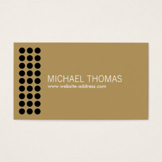 Gold Perforated Designer's Business Card II