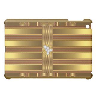 Gold Pern Diamond jewel Cover For The iPad Mini