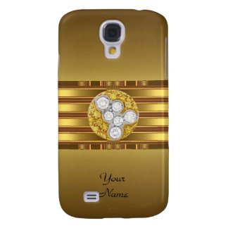 Gold Pern Diamond jewel Galaxy S4 Case