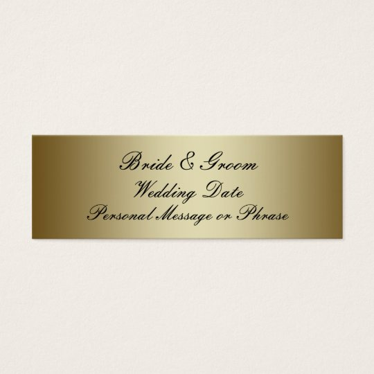 Gold Personalized Wedding Favor Tag Template Zazzle