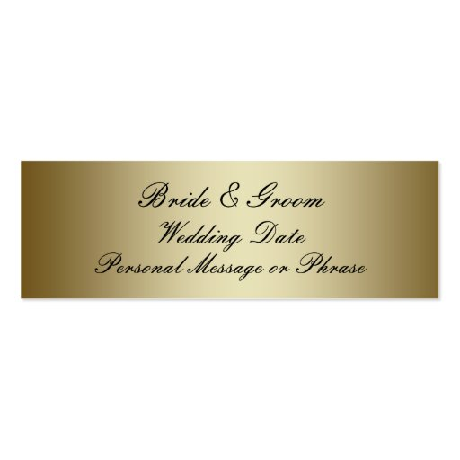 Gold Personalized Wedding Favor Tag Template Business Card Templates