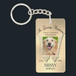 "Gold Pet Memorial Keychain<br><div class=""desc"">A comforting gold colored keychain memorial tribute for the loss of any type of pet.</div>"