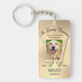 Gold Pet Memorial Keychain