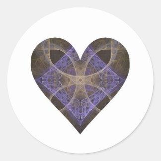 Gold Petal Overlay on Purple Intricate Diamond Classic Round Sticker