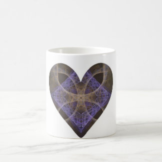 Gold Petal Overlay on Purple Intricate Diamond Coffee Mug