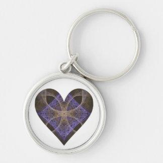 Gold Petal Overlay on Purple Intricate Diamond Key Chains
