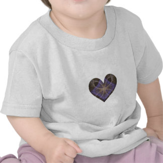 Gold Petal Overlay on Purple Intricate Diamond Tee Shirts