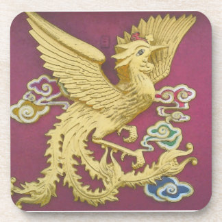 Gold Phoenix Cork Coaster
