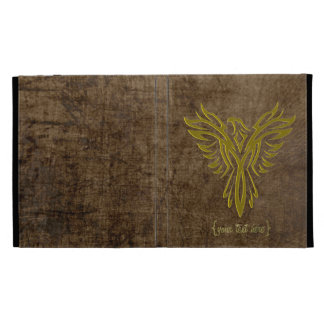 Gold Phoenix Rising from the Ashes iPad Folio Covers