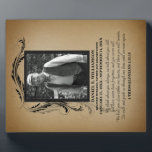 """Gold Photo Memorial Plaque<br><div class=""""desc"""">A beautiful and timeless way to remember your loved one with a personalized memorial photo plaque. Upload your own picture and edit all the text on the front for a unique keepsake you and your family will treasure. The poem on this plaque reads: We think about you always, we talk...</div>"""