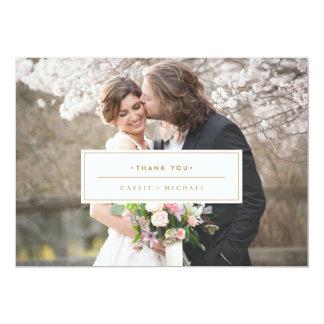 GOLD PHOTO THANK YOU CARD wedding thank you card