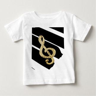 Gold Piano gclef Symbols Baby T-Shirt