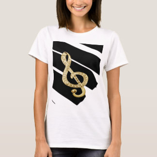Gold Piano gclef Symbols T-Shirt