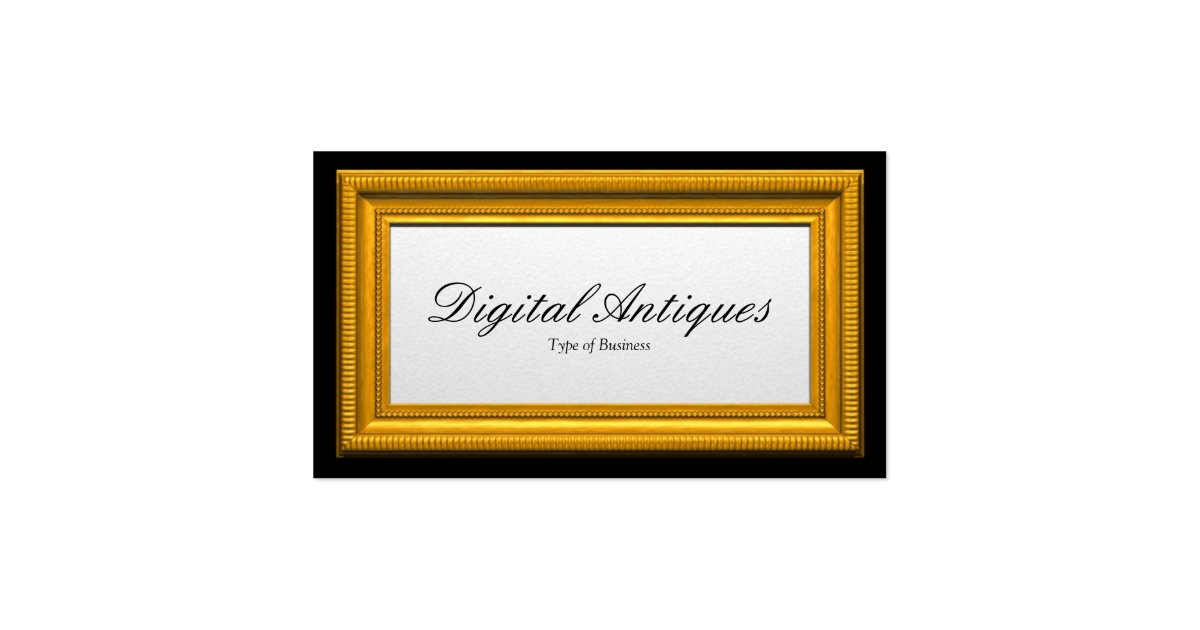 Gold picture frame business card zazzle for Business card picture frame