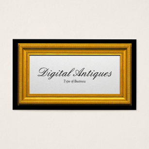 Gold Picture Frame Business Card
