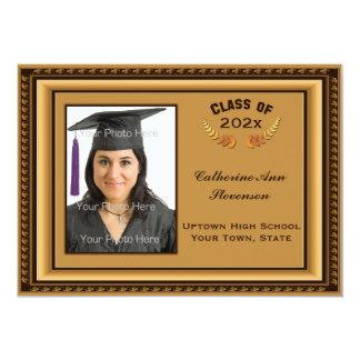 Gold Picture Frame Photo Card