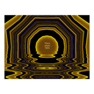 Gold Picture Frame Template #10 Poster