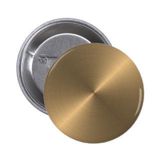 Gold Pinback Button