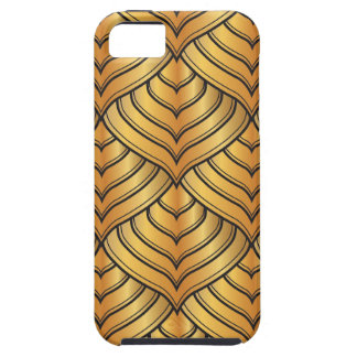 Gold Pine Comb and Black Ink Art Deco Pattern iPhone SE/5/5s Case