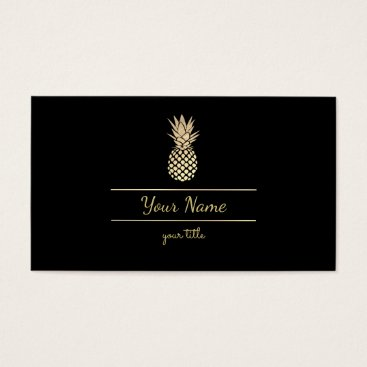 Professional Business gold pineapple business card