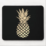 "gold pineapple on black mouse pad<br><div class=""desc"">gold pineapple on black mousepad</div>"