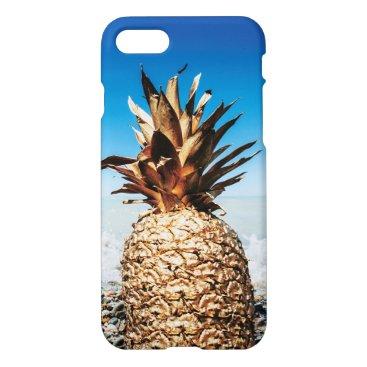 Beach Themed Gold Pineapple on the Beach iPhone 7 Case
