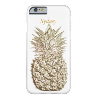 Gold Pineapple Personalized Barely There iPhone 6 Case