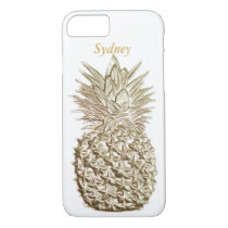 Gold Pineapple Personalized iPhone 7 Case