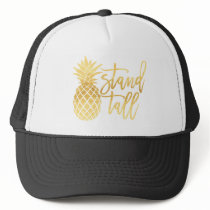 Gold Pineapple Stand Tall Trucker Hat