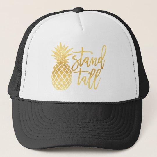 a387080cdfc1c Gold Pineapple Stand Tall Trucker Hat