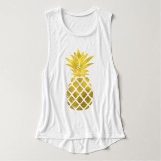 Gold Pineapple Tank Top