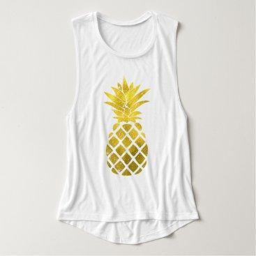 heartlocked Gold Pineapple Tank Top