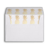 gold pineapples pattern envelope