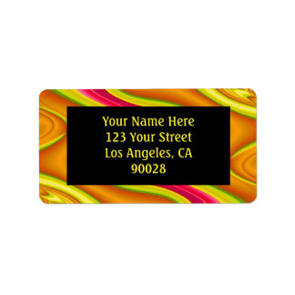 gold pink abstract custom address labels