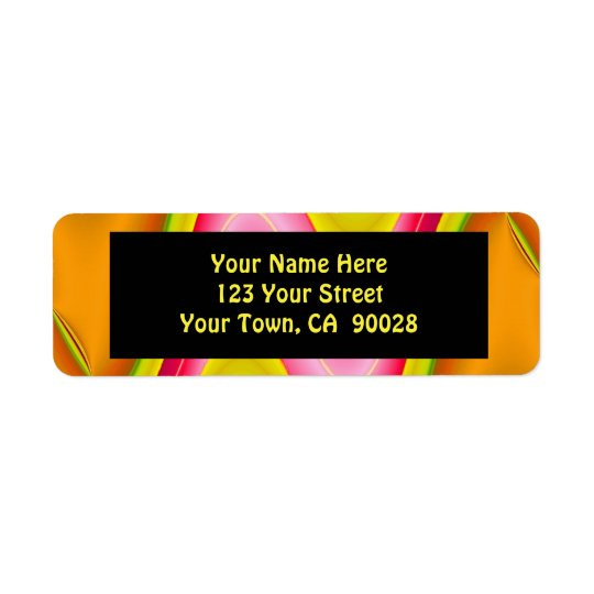 gold pink abstract label