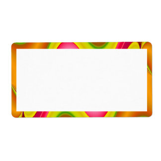 gold pink abstract shipping label
