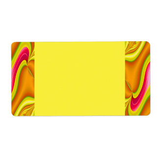 gold pink abstract shipping labels