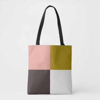 Gold Pink Chocolate Ivory Tote Bag