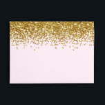 """Gold Pink Faux Glitter Envelope<br><div class=""""desc"""">gold and pastel pink faux glitter (not actual glitter)</div>"""