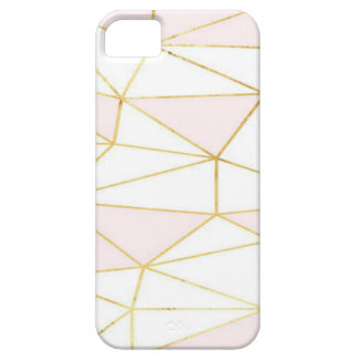 Gold Pink Geometric iPhone SE/5/5s Case