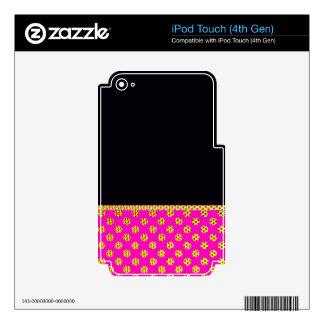 Gold Pink Girly Wedding Trendy Elegant Modern Fun iPod Touch 4G Decals