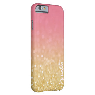 Gold Pink Ombre Glitter Personalized Name Iphone 6 Barely There iPhone 6 Case