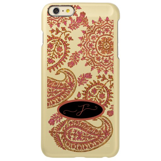 Gold Pink Paisley Indian Ethnic Pattern Monogram Incipio Feather Shine iPhone 6 Plus Case