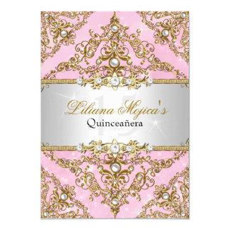 Pink Quinceanera Invitations Announcements Zazzle