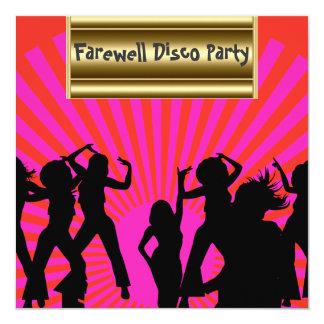 Gold pink Popular Disco Farewell Invitation