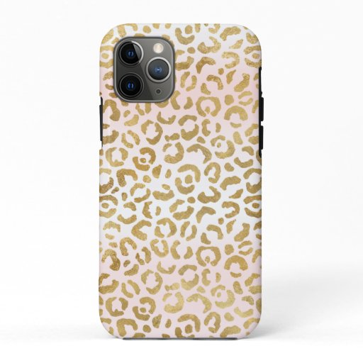Gold Pink White Leopard Print      iPhone 11 Pro Case