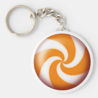 GOLD PINWHEEL CANDY by SHARON SHARPE Keychains